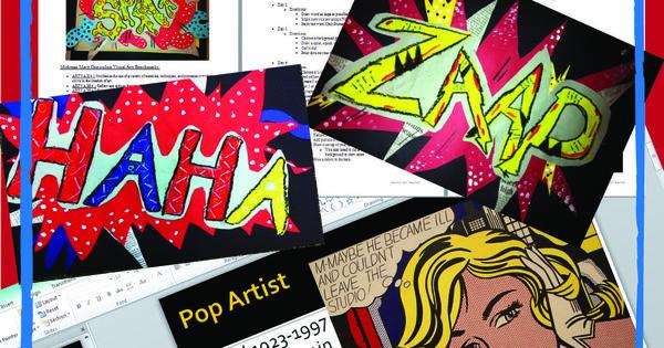 Lichtenstein Onomatopoeia Visual Arts Project ELA Arts