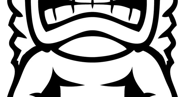 tiki mask coloring pages and masks on pinterest