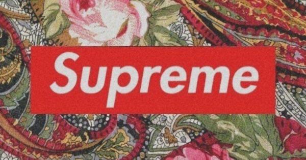 Supreme Floral Wallpaper Print