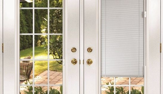 French Doors Exterior With Built In Blinds French Doors