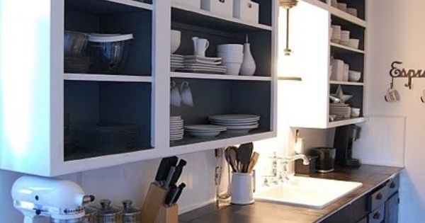 Open Faced Cabinets Kickin Kitchen Pinterest Open