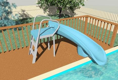 Above Ground Pool Deck Picture Ground Pools Pool Slides