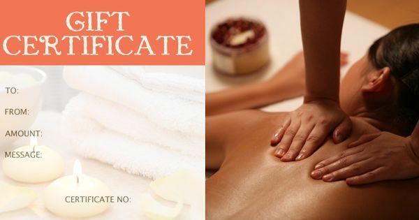 Massage Gift Certificate Template Healing Arts Pinterest Gift Certificate Template