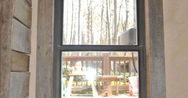Pallet Window Trim Walls Amp Floors Pinterest Pallets Window And House