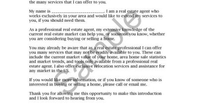 Real Estate Letters of Introduction Introduction Letter ...
