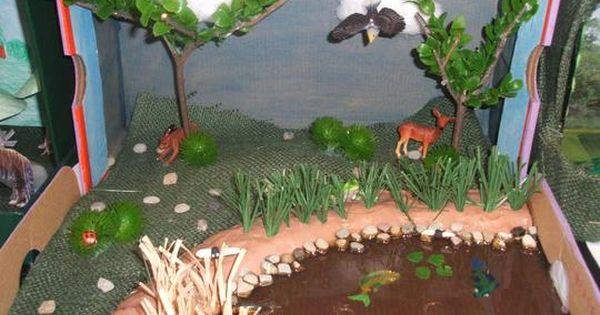 Printable Desert Diorama Background