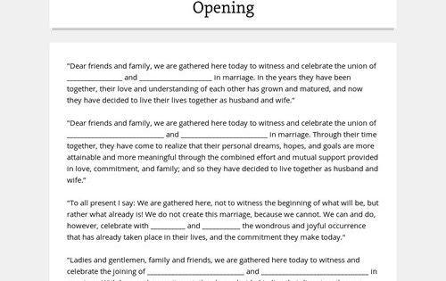 Non Denominational Wedding Ceremony Script