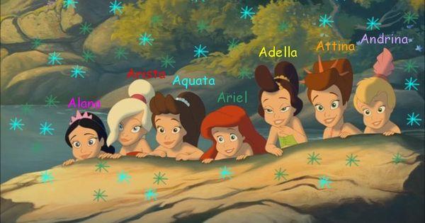 Ariel Mermaid Sisters Names