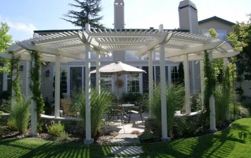 Semi Circle Pergola For The Home Pinterest Arbors