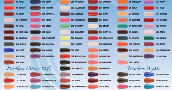 Nexgen Nail Chart Color