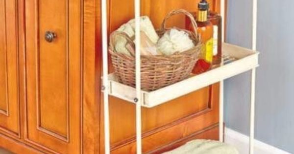 Storage Cart Rolling Slim Space Saver 3 Shelves Kitchen