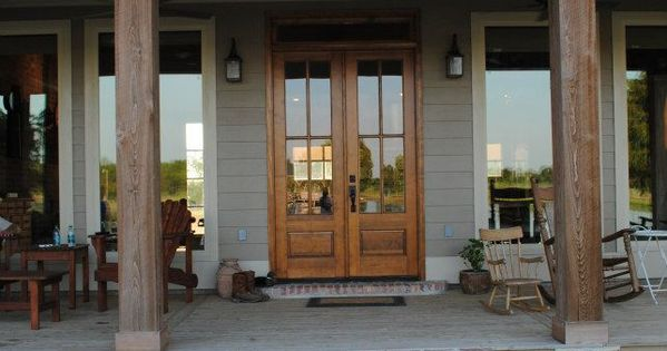 Using Cypress Beams Indigenous To Southern Louisiana To Create The Desired Welcoming Entrance