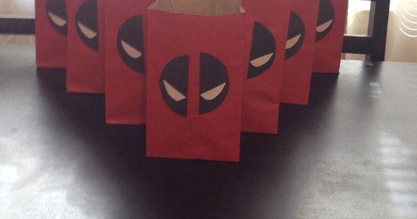 Deadpool Gift Bags Birthdays Pinterest Gifts Bags
