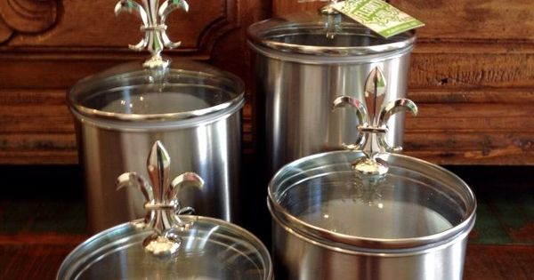 Black And Stainless Steel Canister Sets