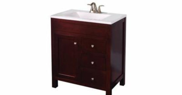 vanity in hazelnut with vanity top in alpine home depot canada - Home Depot Salle De Bain Vanite