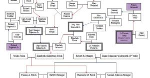 Diagram of Munger, Edgerton, Tracy, & Brewster lineage
