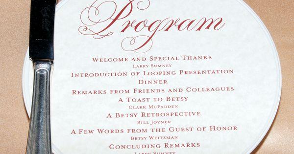 Retirement Party Agenda Examples Retirement Dinner Program Agenda Graduation Party