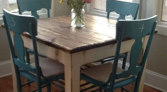 Beautiful Primitive Distressed Rustic Dark Walnut Stain