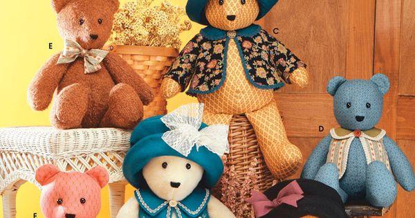 Pattern 5461 Simplicity Bear Stuffed