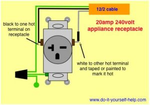 wiring diagram for a 20 amp 240 volt receptacle | TOOLS
