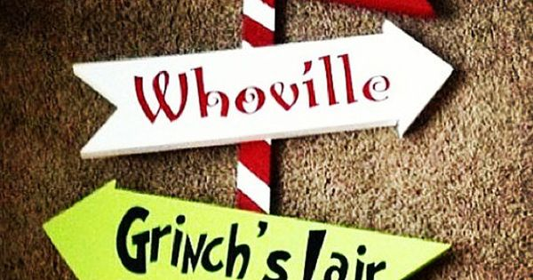 36 Whoville Grinch Christmas Yard Art Sign Decoration By