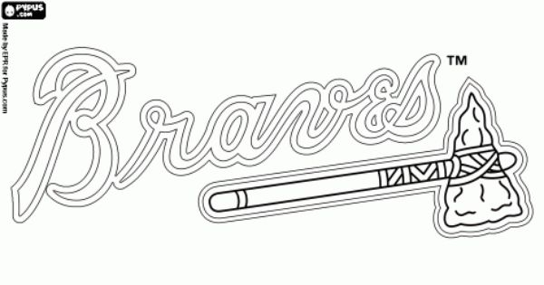 atlanta braves atlanta and coloring pages on pinterest