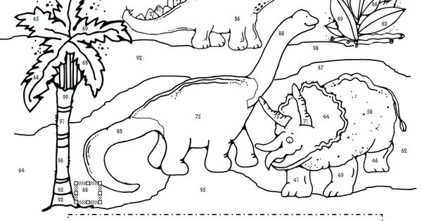 color by numbers dinosaurs pinterest color by numbers 1st