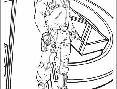 coloring pages avengers and nick fury on pinterest