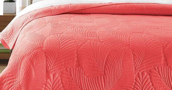 Martha Stewart Collection Atlantic Palm Coral FullQueen