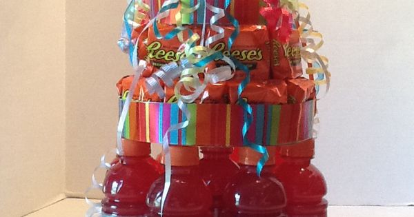 Gatorade Reeses Birthday Cake With Spot It Game On Top