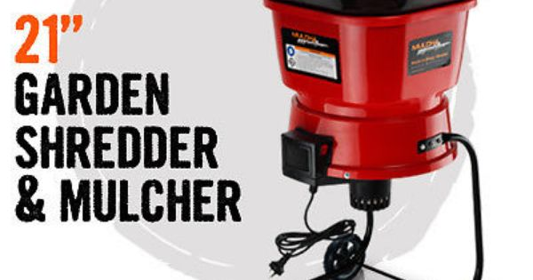 Mulch Master Electric Garden Leaf Mulcher Shredder