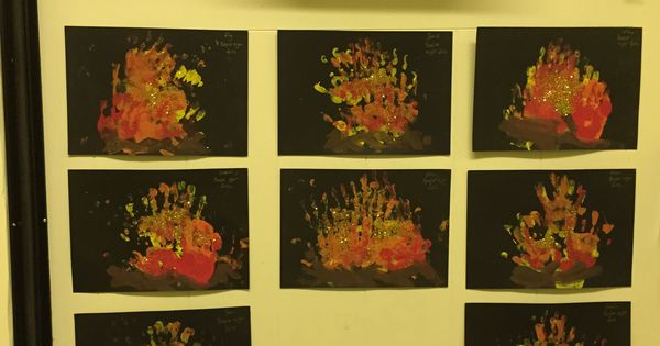 Handprint Bonfire Pictures From Kate S Early Years Class