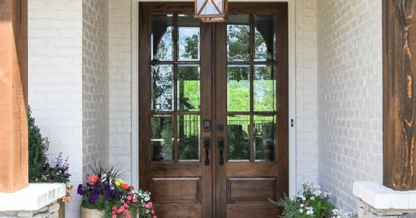 Stained Cedar Post Front Entry
