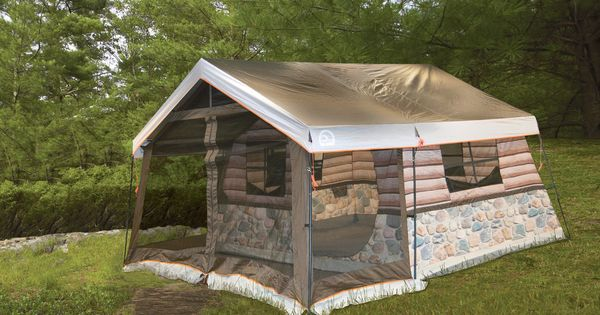 Igloo 8 Man Log Cabin Tent Front Porch And All