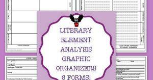 Literary Element Analysis Graphic Organizers Common Core | Literary elements, Graphic anizers