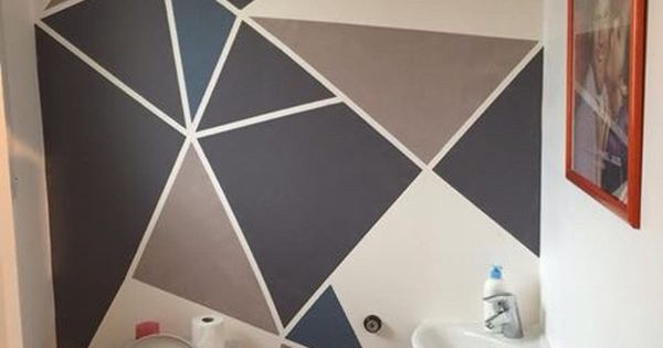 Peinture Murale Triangles Gomtrique Art Room