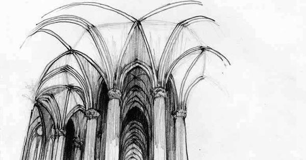 Ceilings Cathedral Beamed Steep Drawing