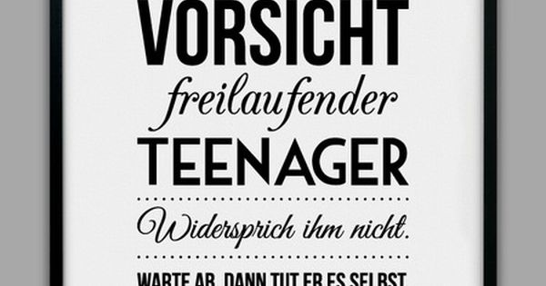 Quot Freilaufender Teenager Quot Kunstdruck Humor Quotation And