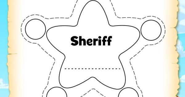 Template Sheriff Printable Badge