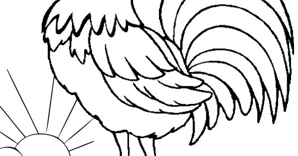 free online the crowing rooster colouring page  kids
