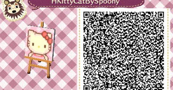 Hello Kitty Animal Crossing Qr Animal Crossing New Leaf Pinterest Animal Crossing To