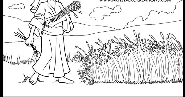 ruth coloring page  colouring pictures  pinterest