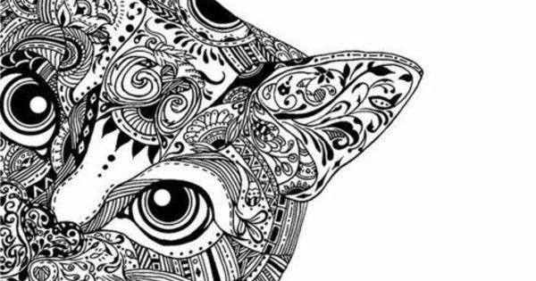 Ausmalbilder Muster Katzen Kunst Pinterest Mandala