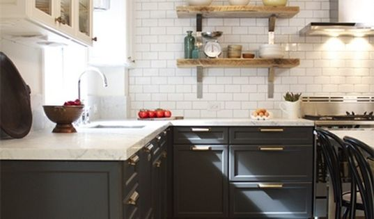 White Kitchen Open Shelving