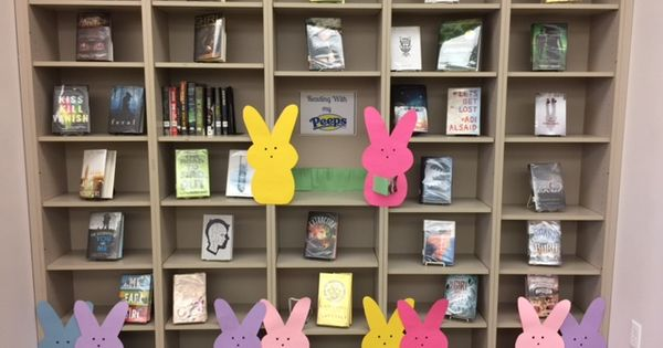 Reading With My Peeps Library Decorations Amp Displays Pinterest Peeps Reading And Biography