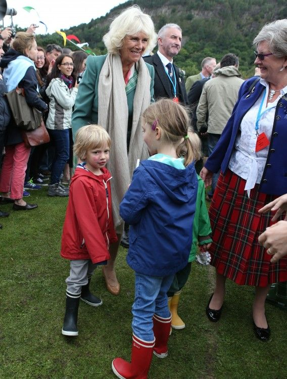 Camilla's daughter Laura Lopes' three children, who joined