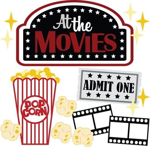 At The Movies SVG scrapbook files movie svg file for ...