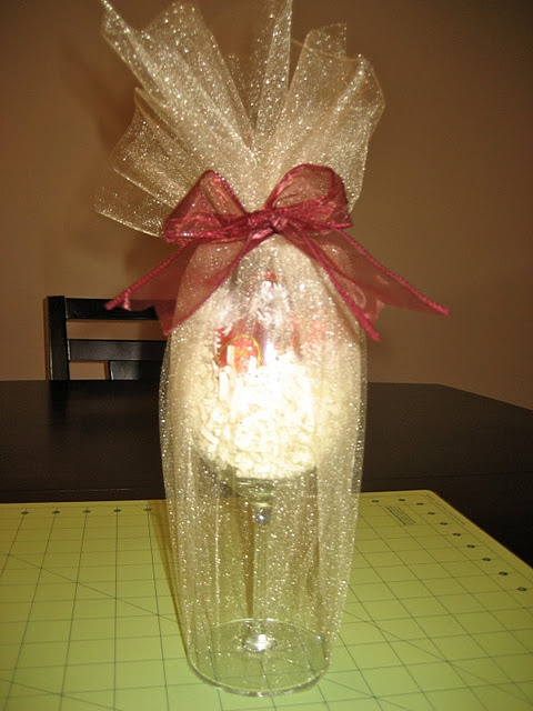Candy Filled Wine Glass Gift DIY Gift Ideas Pinterest Children Wine Glass Favors And To The