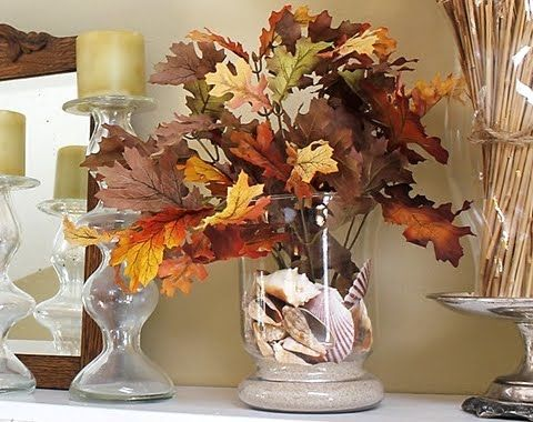 Beach Inspired Fall Leaf Decor Add Fall Leaves To Your