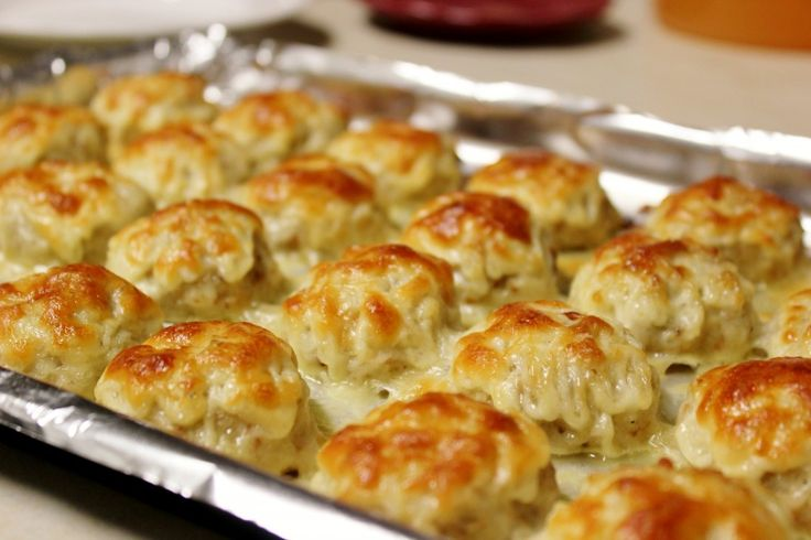 Cheesy Chicken Meatballs  I would use these in a sub bun for a new twist on a meatball sub. Would also